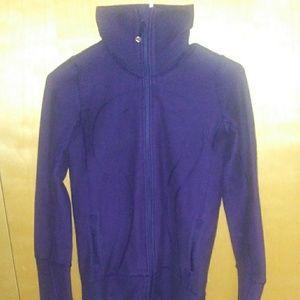 Lulu lemon dark purple zip up jacket size 2